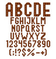 chocolate alphabet letters numbers and signs vector image vector image