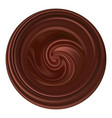 chocolate wave emblem logo or icon round shape vector image vector image