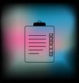 clipboard or checklist icon vector image vector image