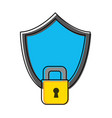 color shield security and protection object to vector image