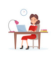 concept of business woman vector image