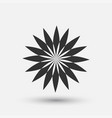 creative icon - floral decorative element vector image vector image
