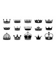 crown silhouette icon set collections queen vector image