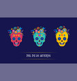 day of the dead dia de los muertos background vector image