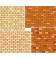 Different color brick textures collection vector image vector image