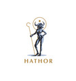 egyptian goddess hathor vector image vector image