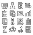 expense report icons set outline style vector image vector image