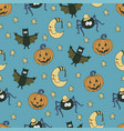fantastic unusual seamless halloween pattern with vector image vector image