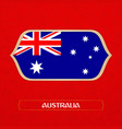 flag australia is made in football style vector image vector image
