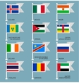 Flags set four-08 vector image