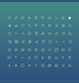 flat icons pack vector image