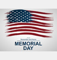 for memorial day with us flag vector image