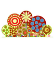 funky floral background vector image vector image
