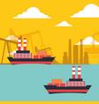 gas oil tanker ships transport chemical industry vector image