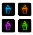 glowing neon speaker icon isolated on white vector image vector image
