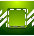 Green abstract geometric corporate background vector image vector image