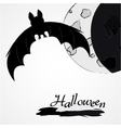 Halloween bat and moon vector image