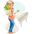 Healthy eating for pregnant woman vector image vector image