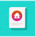 home house message notice icon residential vector image