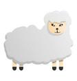 kid sheep icon cartoon style vector image