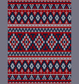 knitted chrismas rug tribal ornament seamless vector image