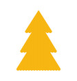 knitted christmass tree yellow vector image vector image