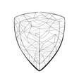 light sketch shaped on shield vector image