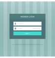 Login box form ui interface element signin screen