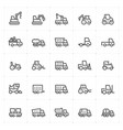 mini icon set - construction machine icon vector image vector image