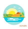 nature - autumn landscape vector image vector image