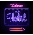 Neon sign Night Hotel vector image vector image
