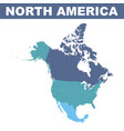 north america map vector image vector image