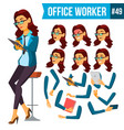 office worker woman secretary accountant vector image vector image