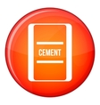 One bag of cement icon flat style vector image vector image