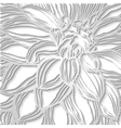 Paper lace floral with lacy border greeting card vector image vector image