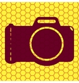 Photo camera Flat modern web button and space for vector image