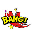 pop art bang star red background image vector image