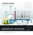 realistic laboratory inventory poster vector image vector image