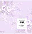 rustic florals on violet background vector image vector image