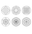 sacred geometry crossing lines vector image vector image