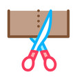 scissors cutting icon outline vector image vector image