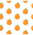 seamless pattern with orange in flat style vector image vector image