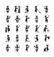 set maid human pictograph icons eps10 vector image vector image