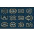 Set of Luxury Insignias Logotypes Template Retro