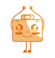 silhouette kawaii cute happy briefcase and medical vector image vector image