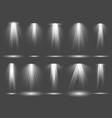 spot light set stage projection illumination vector image vector image