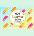 summer sale background design for banner vector image vector image