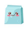 take away box cute kawaii food cartoon character vector image vector image
