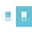 tooth logo combination dental symbol or vector image vector image