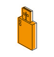 usb drive icon image vector image